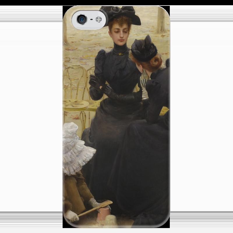Чехол для iPhone 5 глянцевый, с полной запечаткой Printio Разговоры в люксембургском саду разговоры