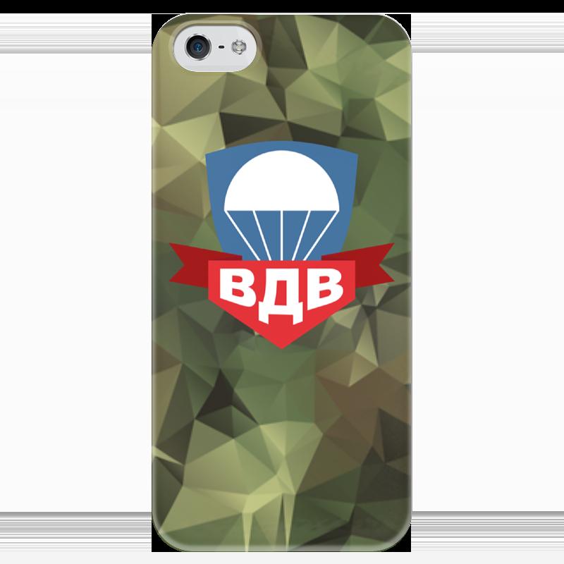 Чехол для iPhone 5 глянцевый, с полной запечаткой Printio Воздушно-десантные войска кaрпфишинг кaкaй род под