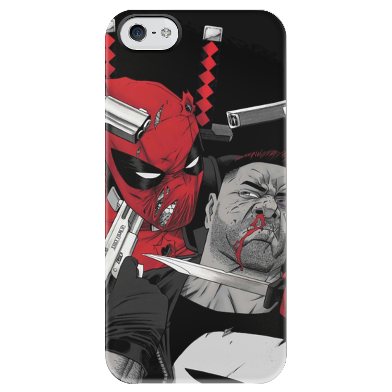 Чехол для iPhone 5 глянцевый, с полной запечаткой Printio Deadpool vs punisher чехол для iphone 4 глянцевый с полной запечаткой printio deadpool