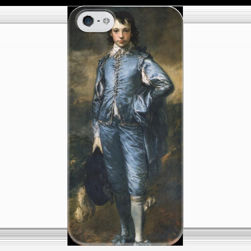 Чехол для iPhone 5 глянцевый, с полной запечаткой Printio Голубой мальчик чехол для iphone 6 глянцевый printio fallout boy