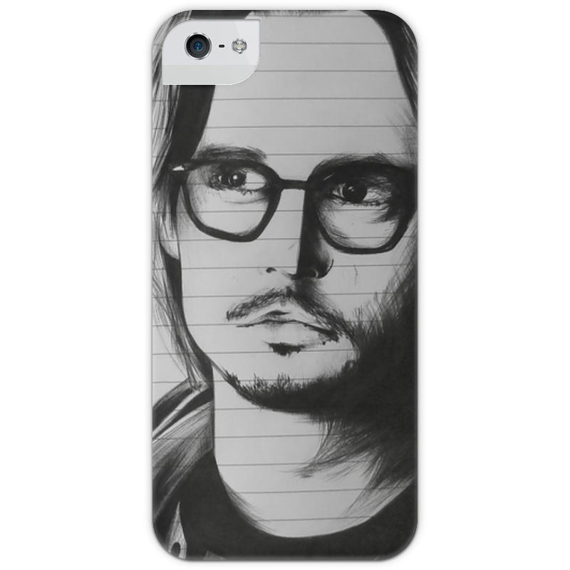 все цены на Чехол для iPhone 5 глянцевый, с полной запечаткой Printio Johnny depp