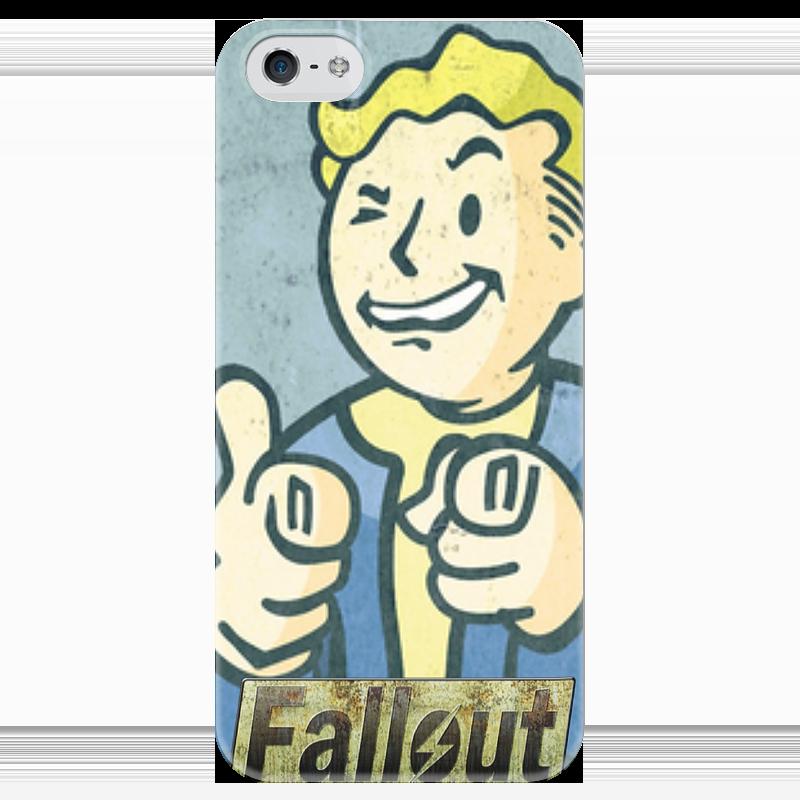 Чехол для iPhone 5 глянцевый, с полной запечаткой Printio Vault boy чехол для iphone 6 глянцевый printio fallout boy