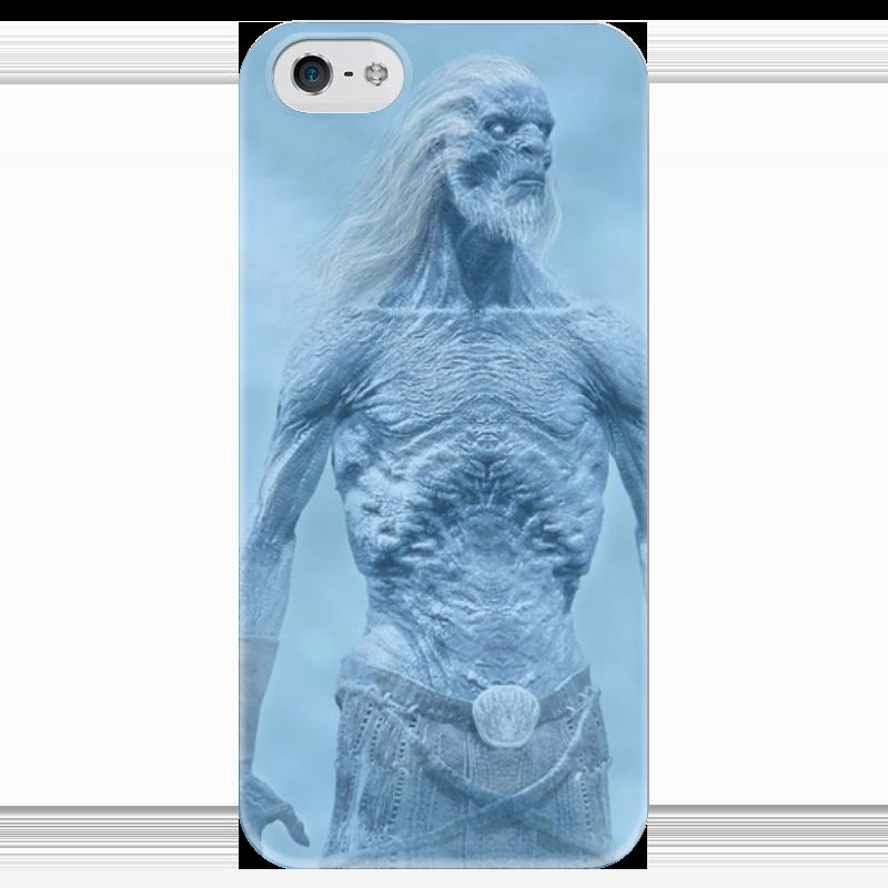 Чехол для iPhone 5 глянцевый, с полной запечаткой Printio Белый ходок sahar cases чехол mercedes iphone 5 5s 5c