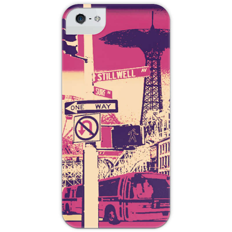 Чехол для iPhone 5 глянцевый, с полной запечаткой Printio Сity чехол fonexion city girls для iphone 5s 5 зеленый