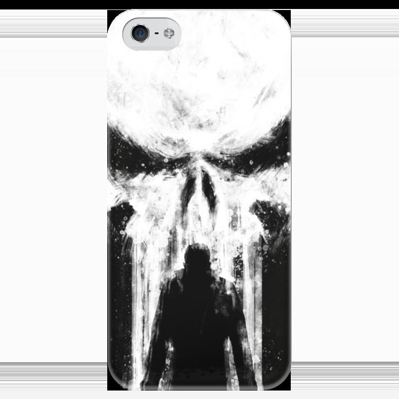 Фото - Чехол для iPhone 5 глянцевый, с полной запечаткой Printio Каратель (the punisher) чехол для iphone 5 глянцевый с полной запечаткой printio deadpool vs punisher