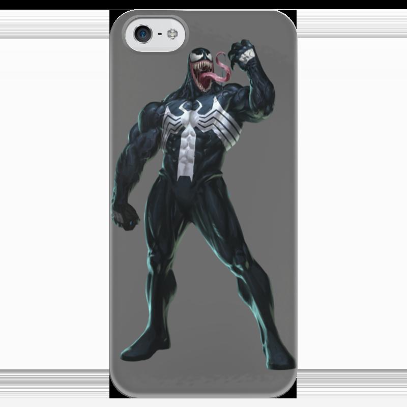 Чехол для iPhone 5 глянцевый, с полной запечаткой Printio Venom / веном чехол для iphone 4 глянцевый с полной запечаткой printio эфиопка