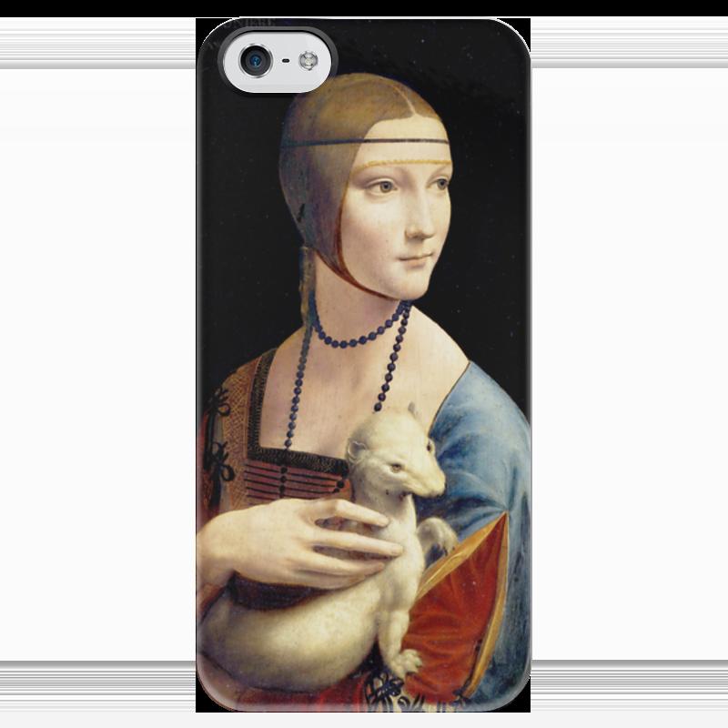 Чехол для iPhone 5 глянцевый, с полной запечаткой Printio Дама с горностаем (леонардо да винчи) вешалка леонардо