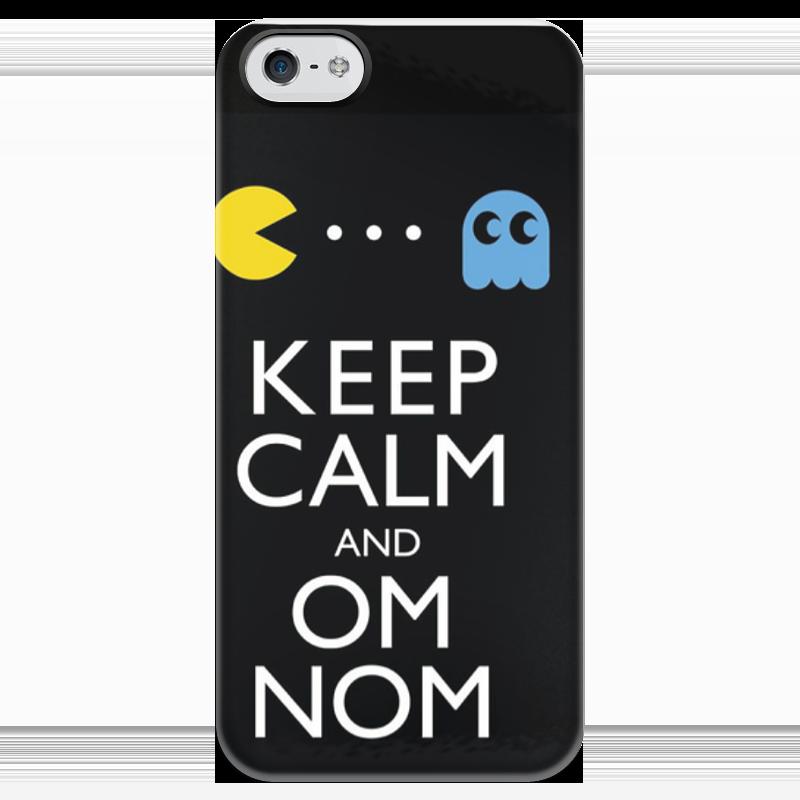 Чехол для iPhone 5 глянцевый, с полной запечаткой Printio Keep calm and om nom футболка wearcraft premium printio keep calm