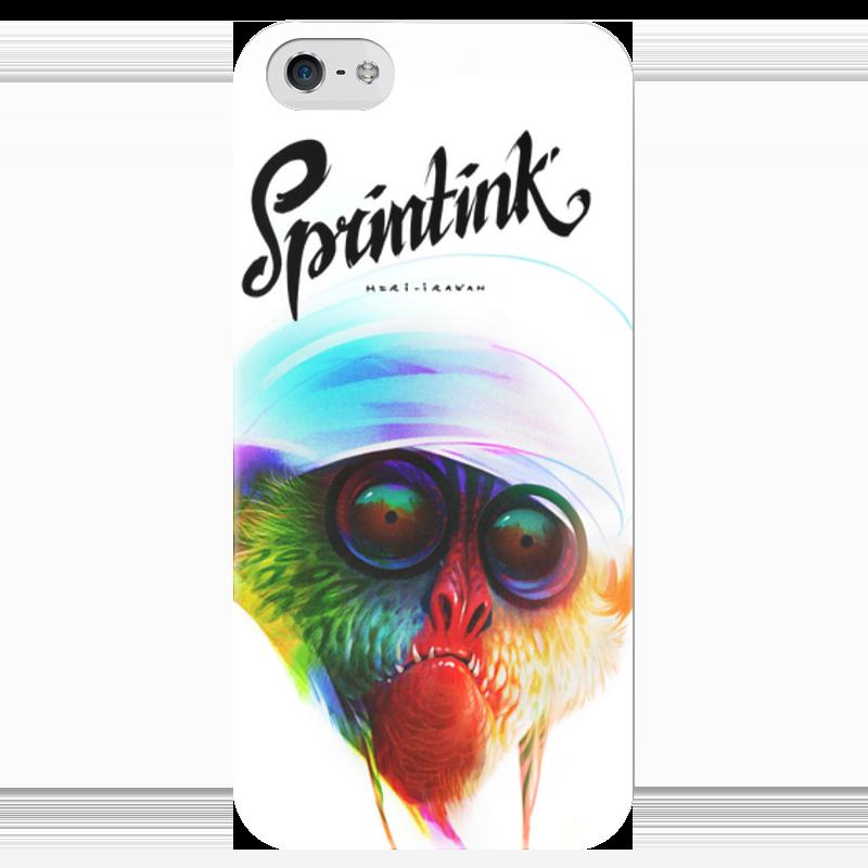 Чехол для iPhone 5 глянцевый, с полной запечаткой Printio Sprintink чехол для iphone 4 глянцевый с полной запечаткой printio эфиопка