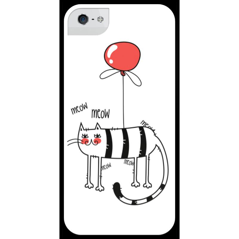Чехол для iPhone 5 глянцевый, с полной запечаткой Printio Летательный кот чехол для iphone 6 глянцевый printio кот бу