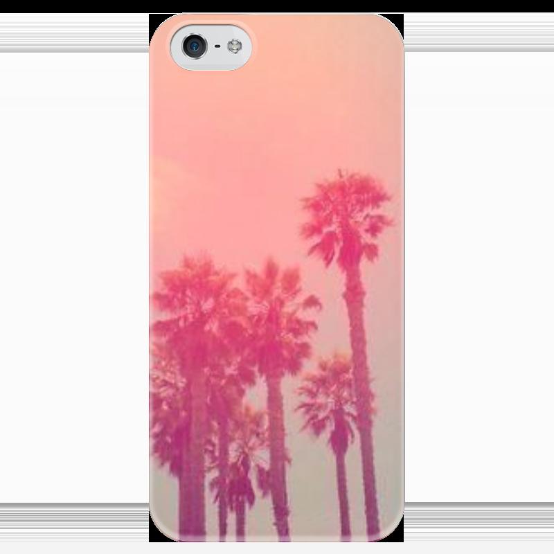 Чехол для iPhone 5 глянцевый, с полной запечаткой Printio Пальмы чехол для iphone 5 глянцевый с полной запечаткой printio пилот