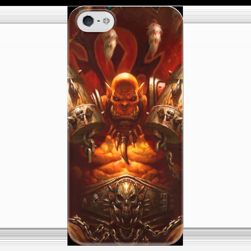 Чехол для iPhone 5 глянцевый, с полной запечаткой Printio Warcraft collection: ork чехол для iphone 4 глянцевый с полной запечаткой printio warcraft collection panda