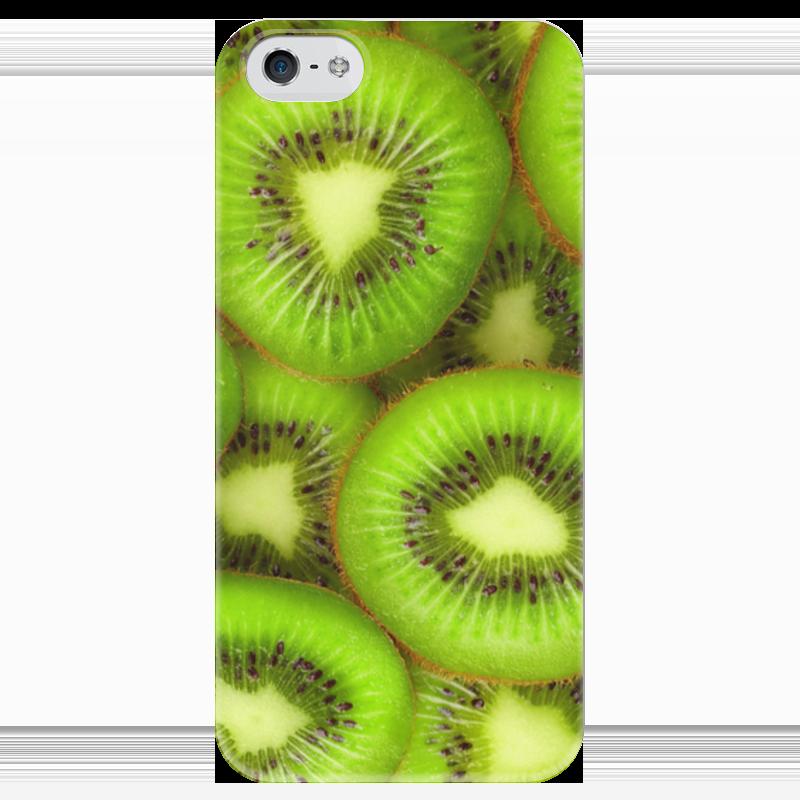 Чехол для iPhone 5 глянцевый, с полной запечаткой Printio Киви - это наслаждение