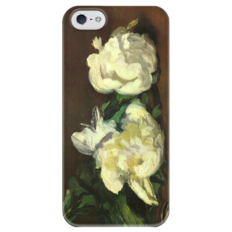 Чехол для iPhone 5 глянцевый, с полной запечаткой Printio Белые пионы чехлы для телефонов chocopony чехол для iphone 7plus белые пионы арт 7plus 228