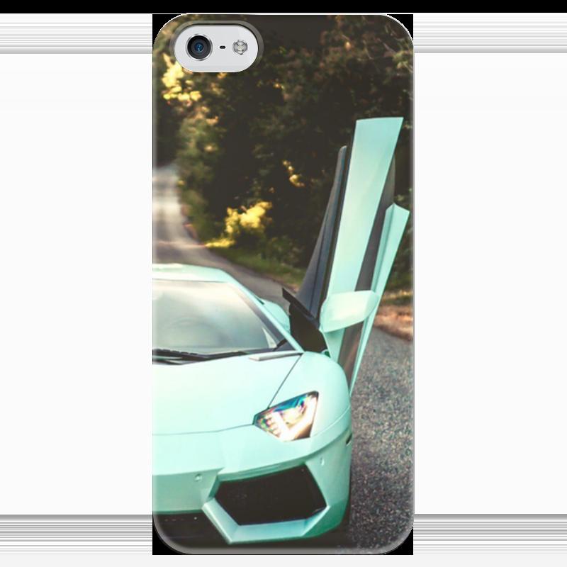 Чехол для iPhone 5 глянцевый, с полной запечаткой Printio Lamborghini