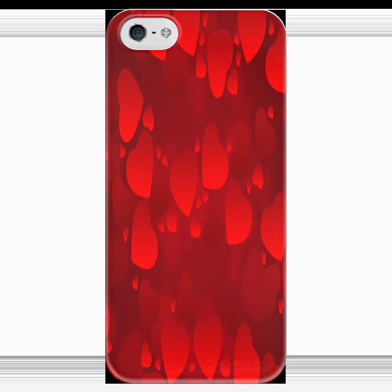 Чехол для iPhone 5 глянцевый, с полной запечаткой Printio Сердечки чехол для iphone 5 глянцевый с полной запечаткой printio иллид