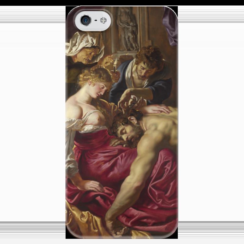 Чехол для iPhone 5 глянцевый, с полной запечаткой Printio Самсон и далила (картина питера пауля рубенса) самсон и далила