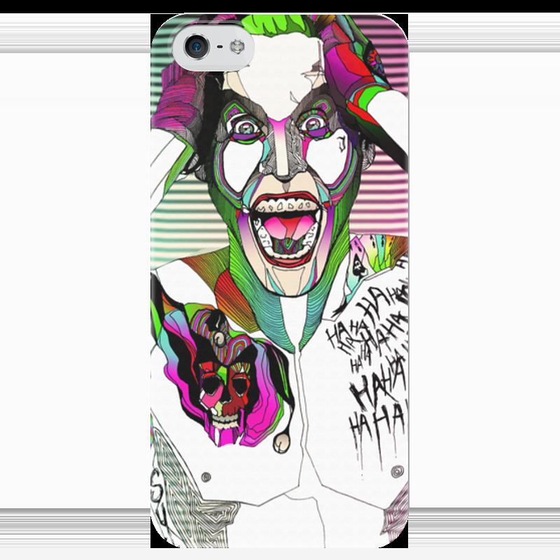 Чехол для iPhone 5 глянцевый, с полной запечаткой Printio Джокер чехол для iphone 5 глянцевый с полной запечаткой printio хлоя морец