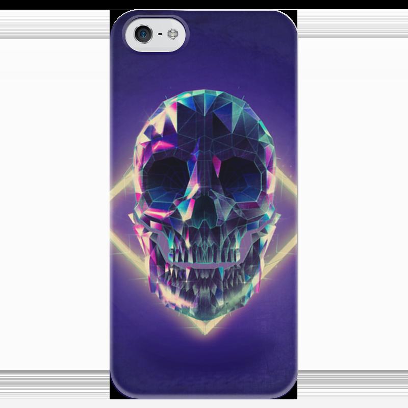 Чехол для iPhone 5 глянцевый, с полной запечаткой Printio Low poly skull чехол для iphone 7 глянцевый printio skull art