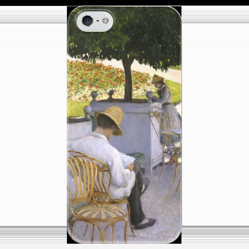Чехол для iPhone 5 глянцевый, с полной запечаткой Printio Апельсиновые деревья (картина кайботта)