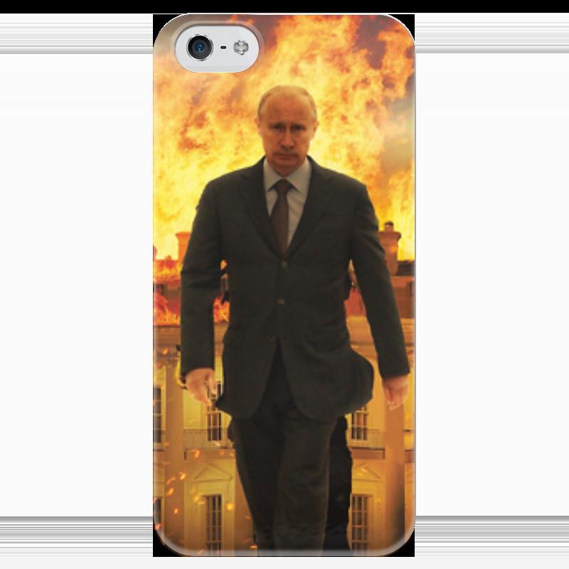 Чехол для iPhone 5 глянцевый, с полной запечаткой Printio Владимир путин чехол