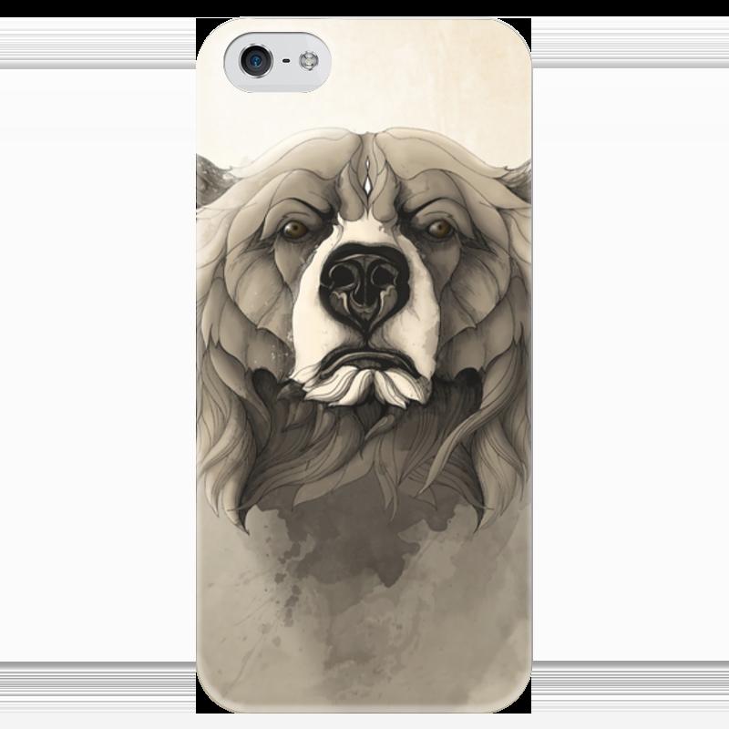 Чехол для iPhone 5 глянцевый, с полной запечаткой Printio Медведь чехол для iphone 5 глянцевый с полной запечаткой printio ember spirit dota 2