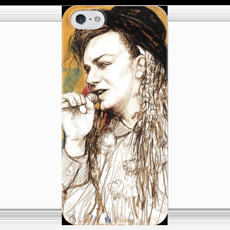 Чехол для iPhone 5 глянцевый, с полной запечаткой Printio Boy george чехол для iphone 6 глянцевый printio fallout boy