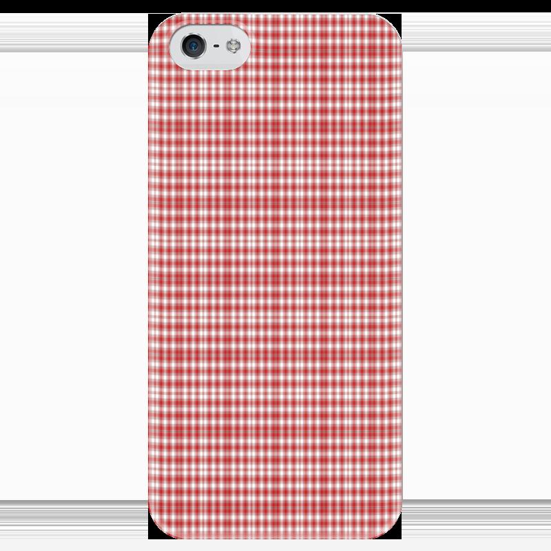 Чехол для iPhone 5 глянцевый, с полной запечаткой Printio Клетчатый плед клетчатый