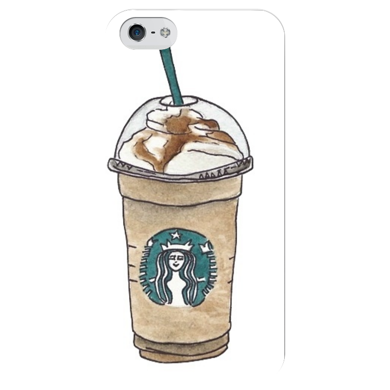 Чехол для iPhone 5 глянцевый, с полной запечаткой Printio Starbucks чехол для iphone 5 глянцевый с полной запечаткой printio куртизанка courtesan after eisen