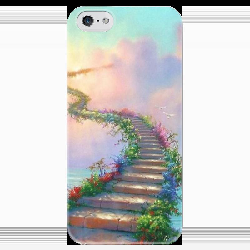 Чехол для iPhone 5 глянцевый, с полной запечаткой Printio Way to the heavens чехол для iphone 5 глянцевый с полной запечаткой printio how to be happy