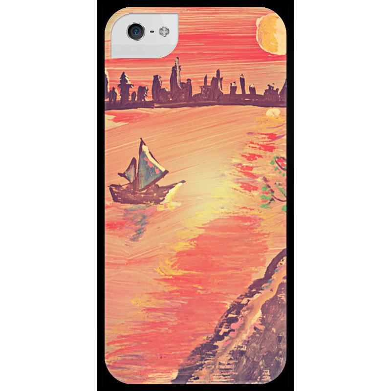 Чехол для iPhone 5 глянцевый, с полной запечаткой Printio Лунная дорожка дорожка 900 1500мм