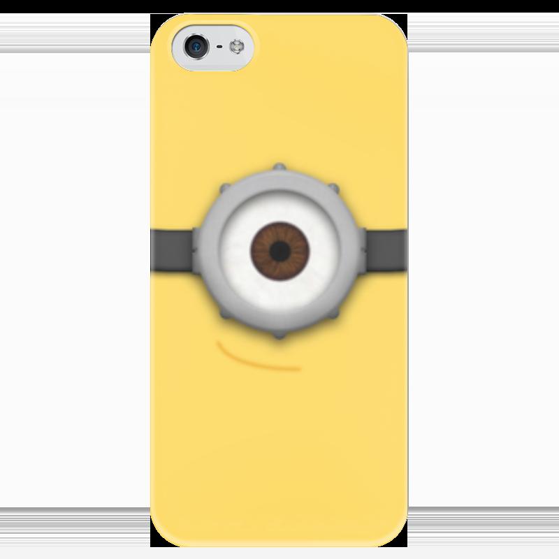 Чехол для iPhone 5 глянцевый, с полной запечаткой Printio Миньон чехол для iphone 5 глянцевый с полной запечаткой printio bruce black white