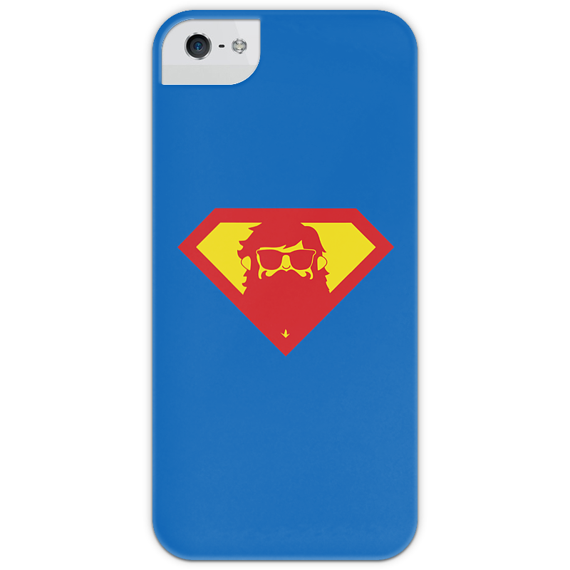 Чехол для iPhone 5 глянцевый, с полной запечаткой Printio Beardman case чехол для iphone 5 printio благодарный чехол