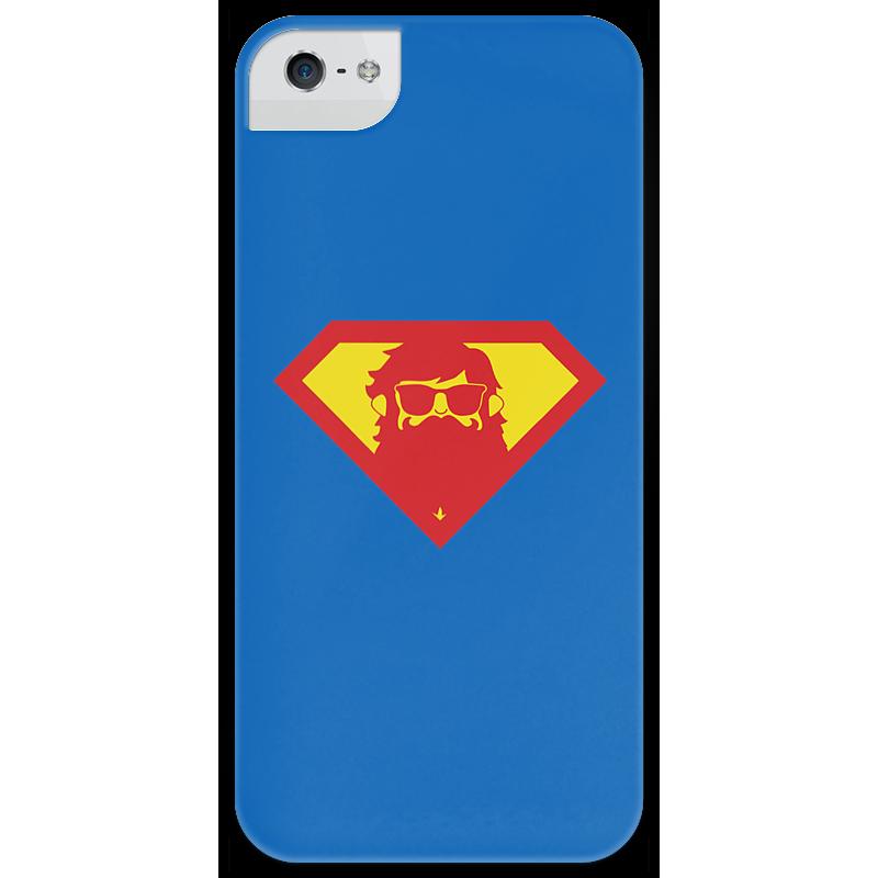 Чехол для iPhone 5 глянцевый, с полной запечаткой Printio Beardman case чехол для iphone 5 глянцевый с полной запечаткой printio uv grid iphone case