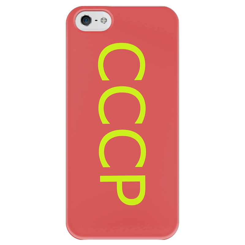 Чехол для iPhone 5 глянцевый, с полной запечаткой Printio Ссср чехол для iphone 5 глянцевый с полной запечаткой printio паспорт ссср