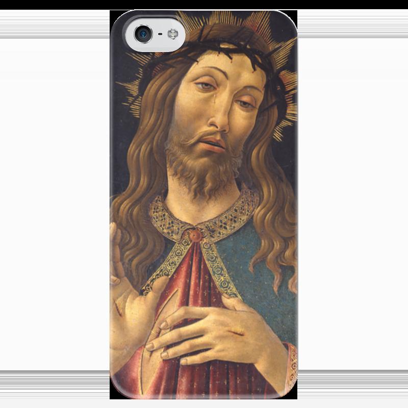 Чехол для iPhone 5 глянцевый, с полной запечаткой Printio Христос в терновом венце (боттичелли) вышивка бисером молящийся христос
