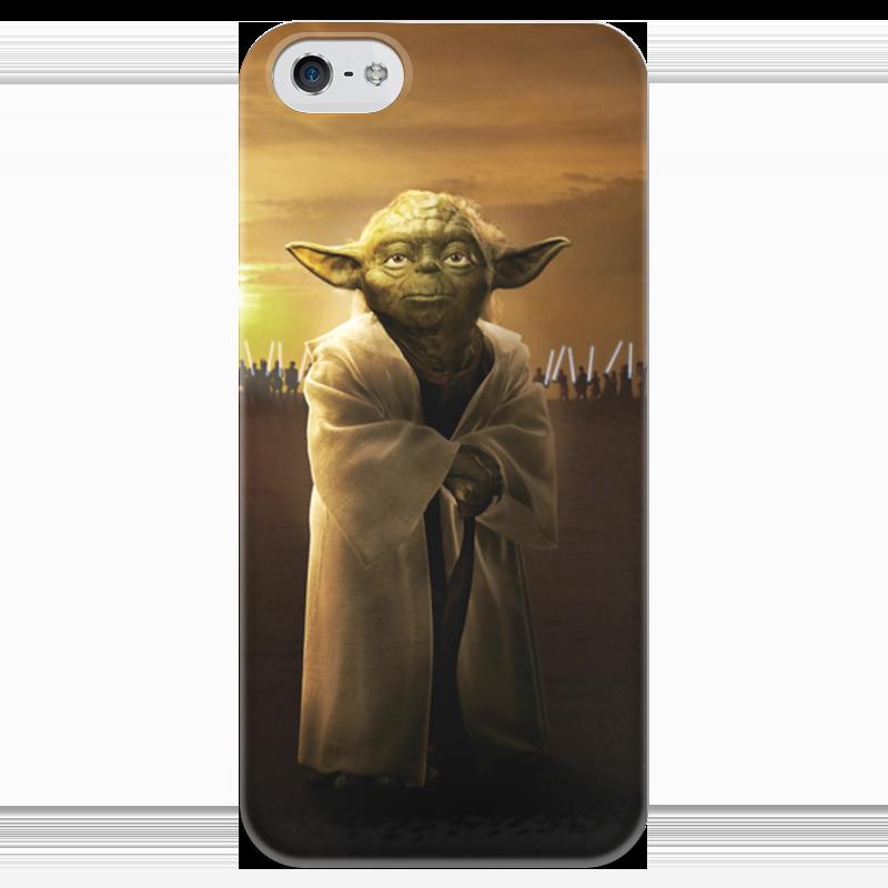 Чехол для iPhone 5 глянцевый, с полной запечаткой Printio Звездные войны - йода чехол для iphone 5 глянцевый с полной запечаткой printio star wars звездные войны