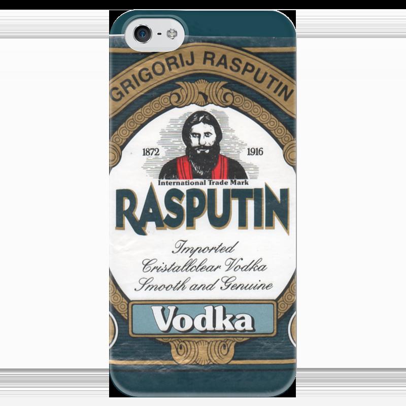 Чехол для iPhone 5 глянцевый, с полной запечаткой Printio Rasputin