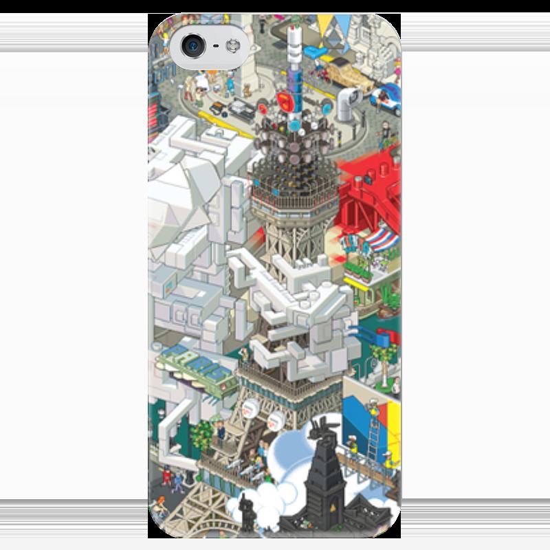 Чехол для iPhone 5 глянцевый, с полной запечаткой Printio Париж чехол для iphone 5 глянцевый с полной запечаткой printio куртизанка courtesan after eisen