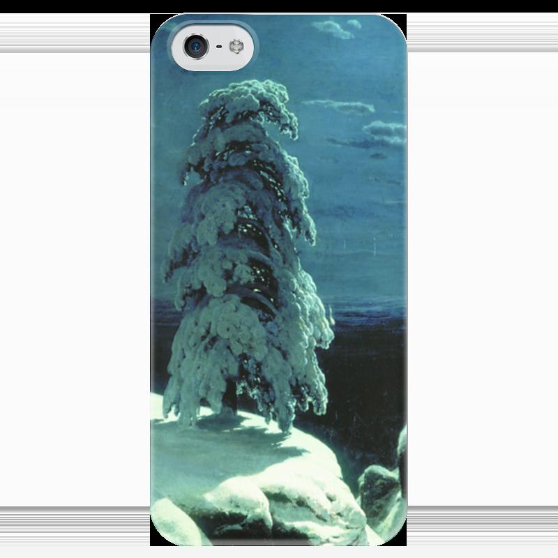 Чехол для iPhone 5 глянцевый, с полной запечаткой Printio На севере диком (иван шишкин) купить щебень на севере москвы