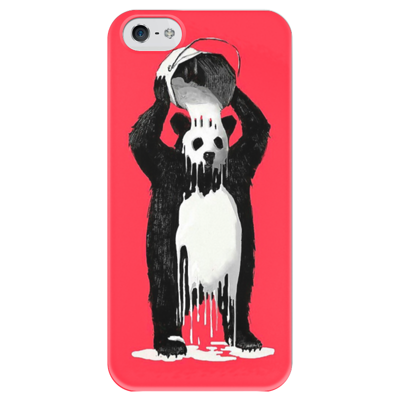 Чехол для iPhone 5 глянцевый, с полной запечаткой Printio Панда в краске чехол для iphone 5 глянцевый с полной запечаткой printio заяц в узорах