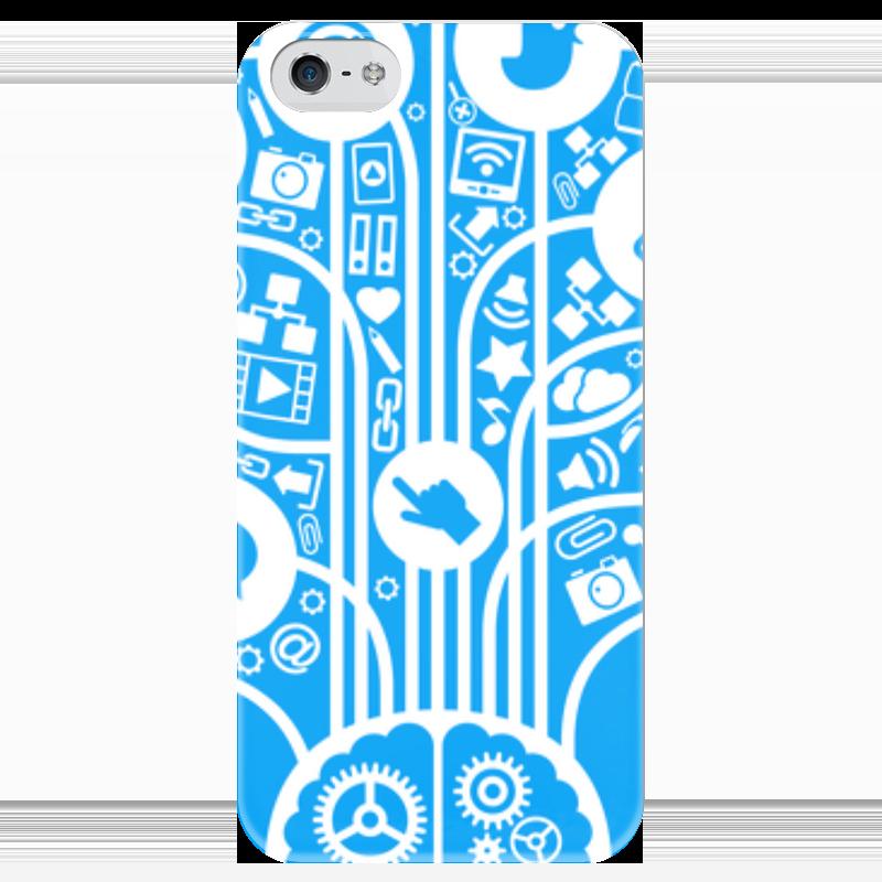 Чехол для iPhone 5 глянцевый, с полной запечаткой Printio Интернет чехол для iphone 5 глянцевый с полной запечаткой printio spinner mobile white спиннер чехол