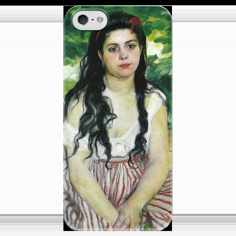 Чехол для iPhone 5 глянцевый, с полной запечаткой Printio Летом. цыганка (пьер огюст ренуар) чехол для iphone 6 глянцевый printio бал в мулен де ла галетт ренуар