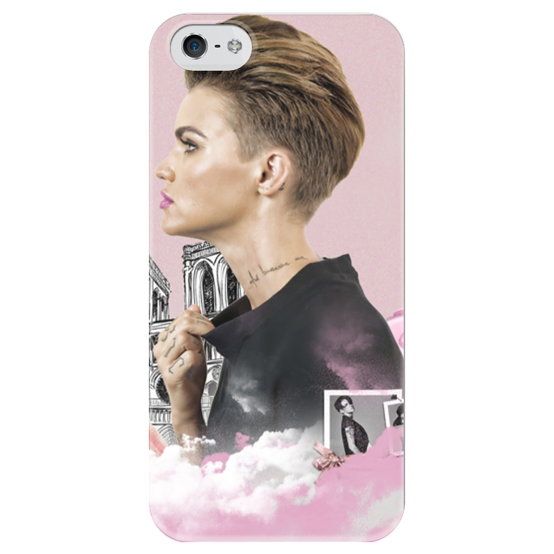 Чехол для iPhone 5 глянцевый, с полной запечаткой Printio Ruby rose iphone 5