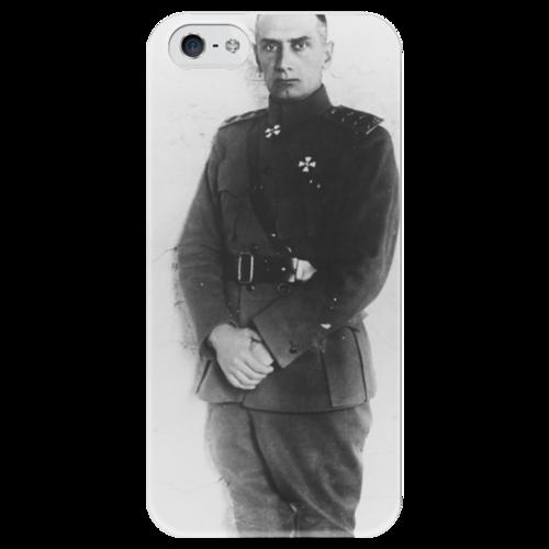 """Чехол для iPhone 5 глянцевый, с полной запечаткой """"Колчак"""" - царь, война, империя, романовы, белая армия"""