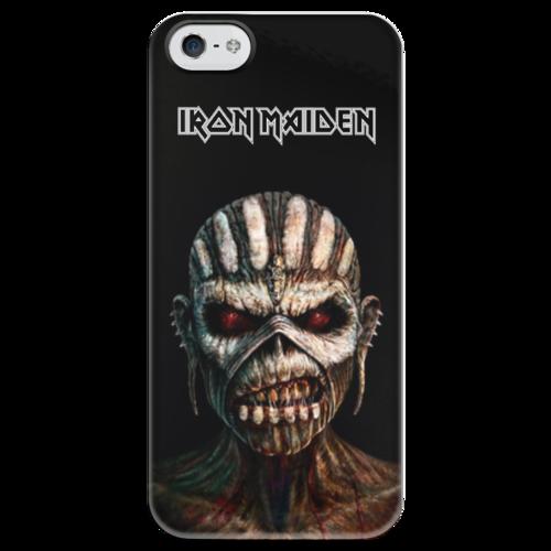 """Чехол для iPhone 5 глянцевый, с полной запечаткой """"Iron Maiden """"Book Of Souls"""""""" - iron maiden, 2015, book of souls"""