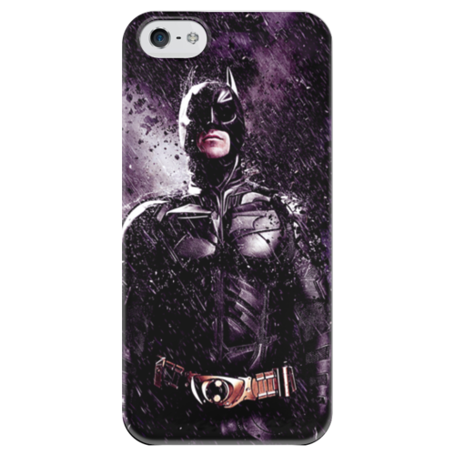 """Чехол для iPhone 5 глянцевый, с полной запечаткой """"Batman """" - comics, batman, бэтмен, dc, superhero, hero, dark knight"""