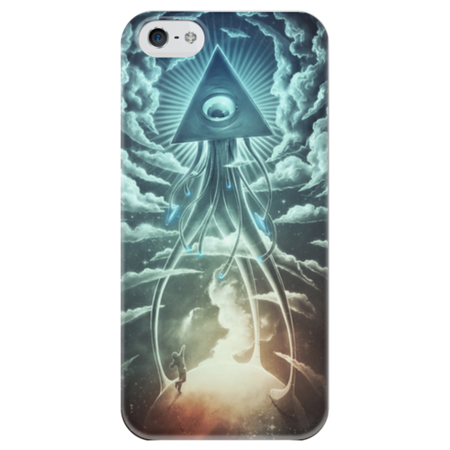 """Чехол для iPhone 5 глянцевый, с полной запечаткой """"Война Миров"""" - фэнтэзи, война миров, war of the worlds"""