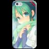 """Чехол для iPhone 5 глянцевый, с полной запечаткой """"Miku Hatsune Sush"""" - аниме, hatsune, мику, бесконечное лето, miku"""