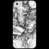 """Чехол для iPhone 5 глянцевый, с полной запечаткой """"Волки"""" - оригинально"""